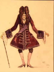 'Old Marquis' Costume design by Fokine